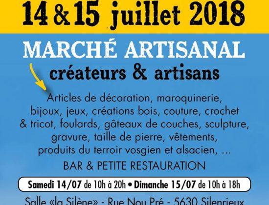 Marché 'Cré-Art 2018' 14 et 15 juillet 2018